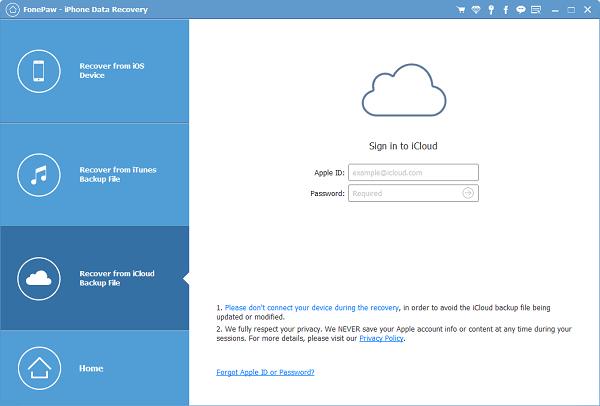 Recuperar archivos borrados de iPhone de las copias de seguridad de iCloud