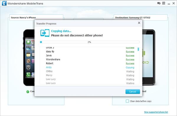 transferir datos entre iPhone y symbian