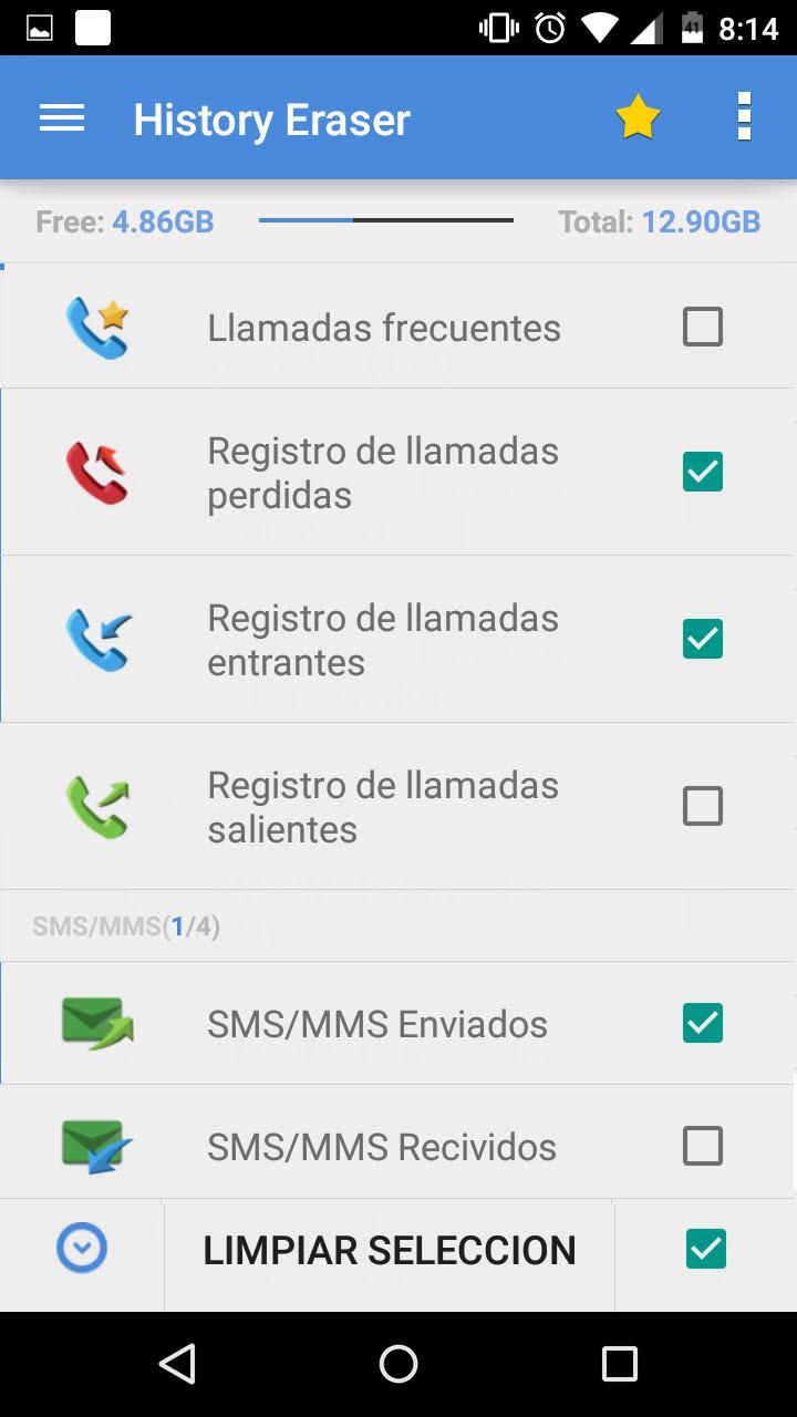 recuperar los registros de llamadas eliminados