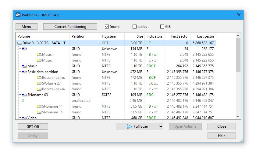 DMDE (DM Disk Editor) - recuperación de archivos borrados del disco duro