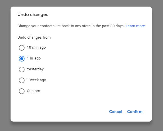 Recuperaci贸n y copia de seguridad de los contactos de Google