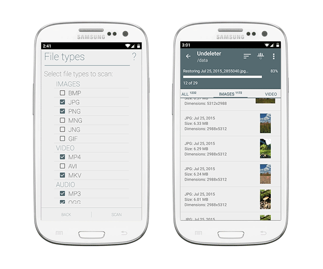 Undeleter para tel茅fono Android: Revisi贸n del programa